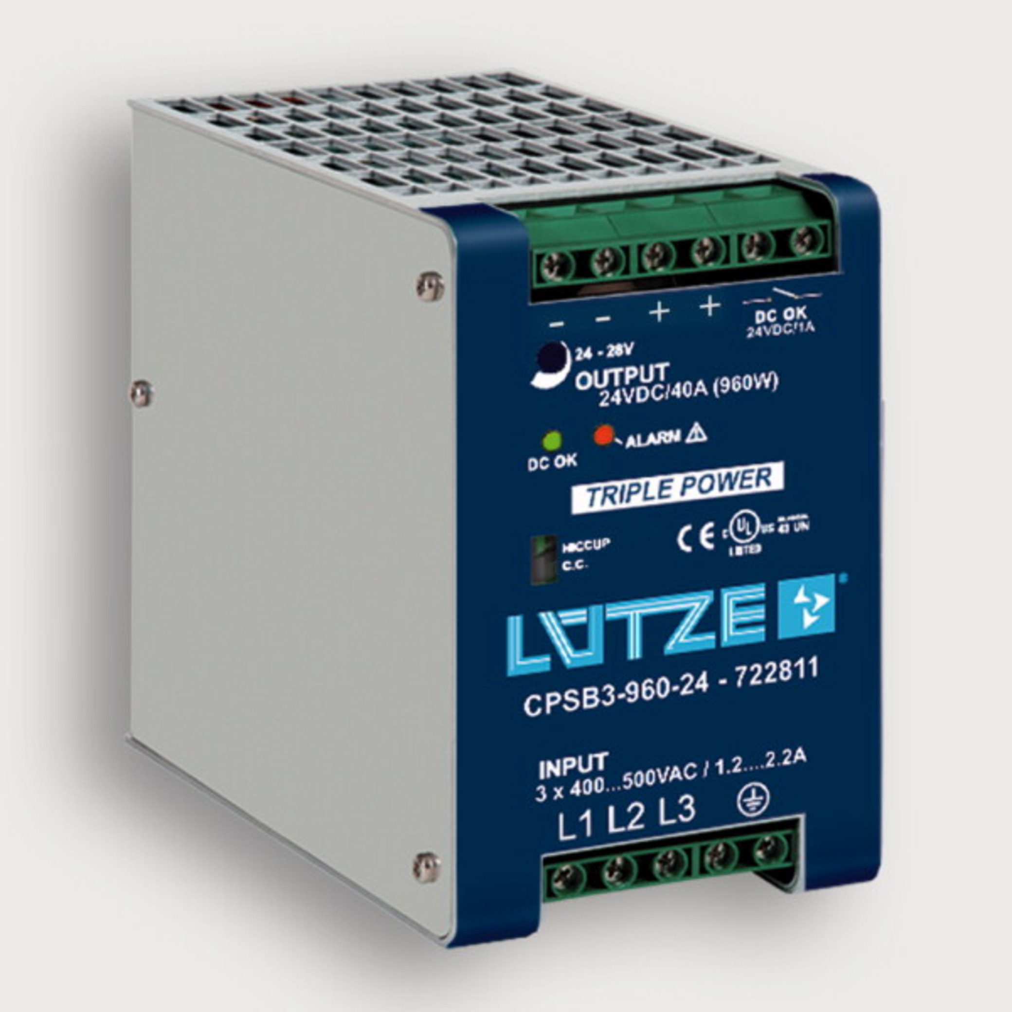 722800 - regulated, 480 W, 3-phase