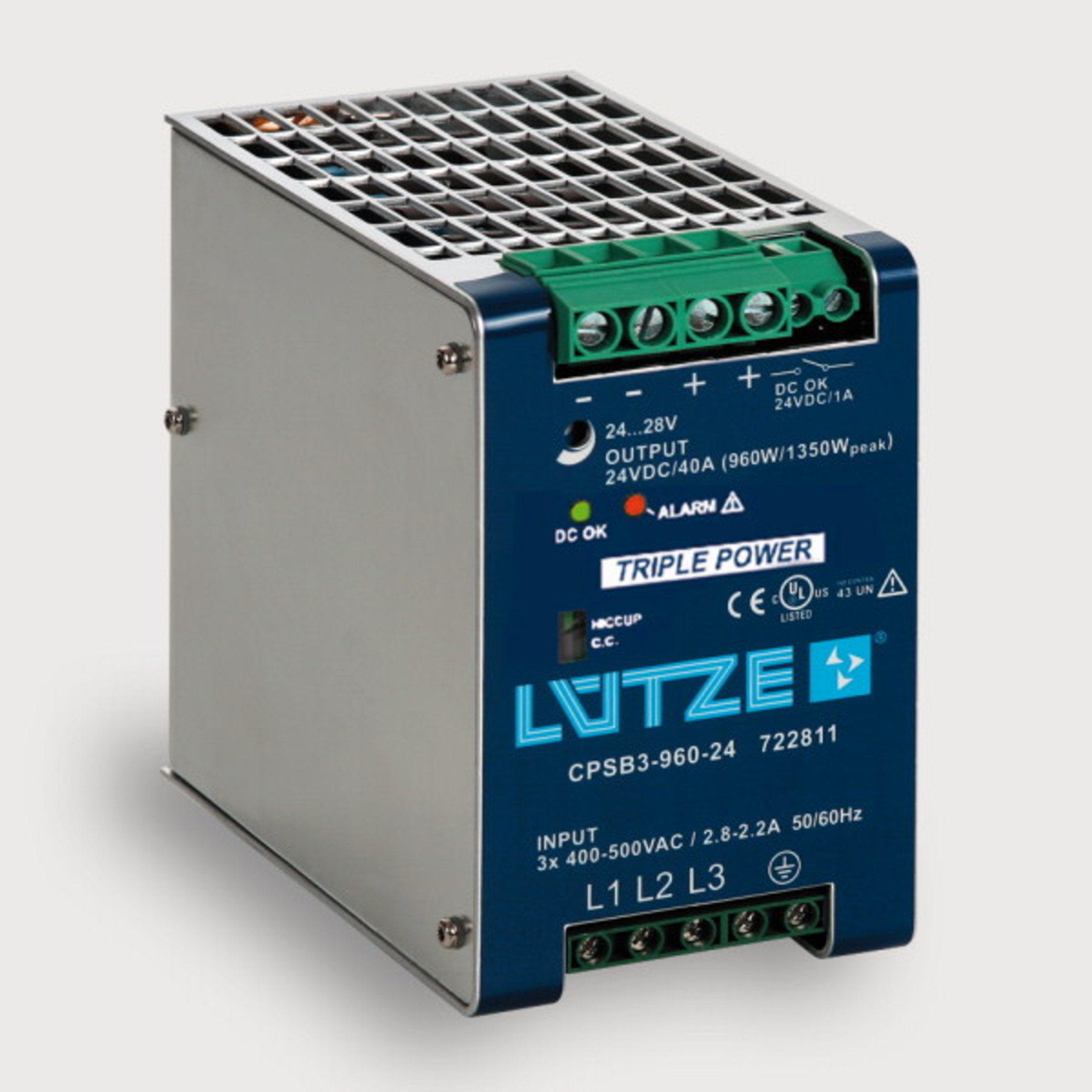 722811 Regulated 960 W 3 Phase Lutze Inc This Is A Dc Power Supply With Short Circuit Protection And