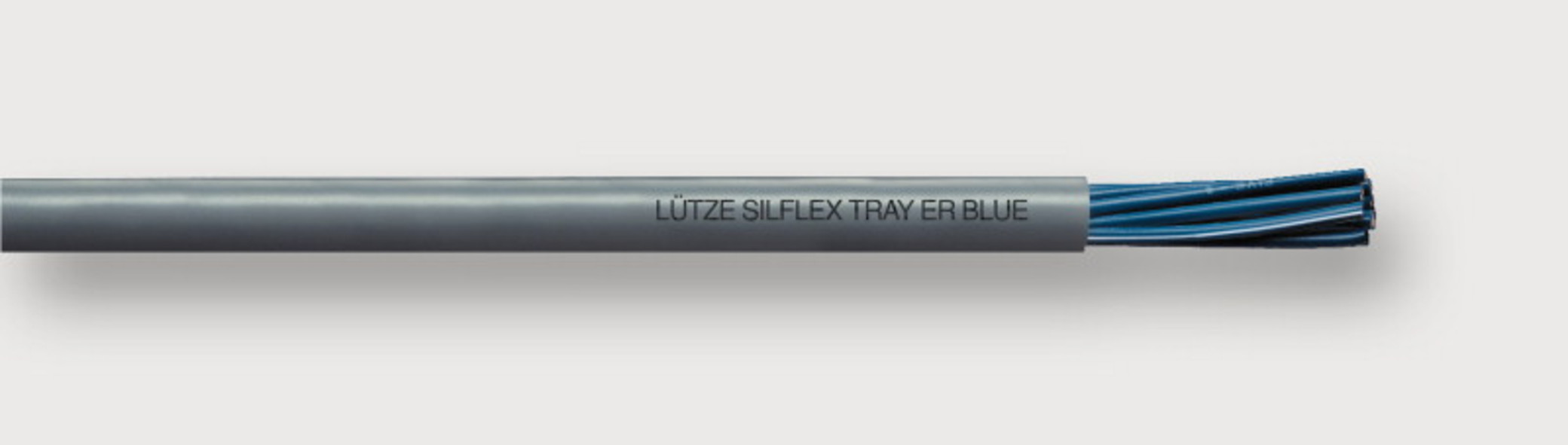 A3251812 - LÜTZE SILFLEX® Tray-ER Blue PVC with UL/TC-ER/CE Approvals, Blue Conductors for 24 V Applications