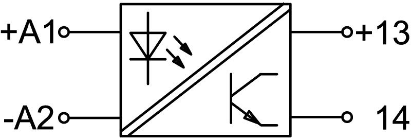 Solid state relay schematic symbol wiring diagram for Eplan for drivers